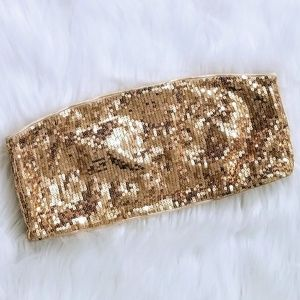 EXPRESS INTIMATES Gold Sequin Bandeau